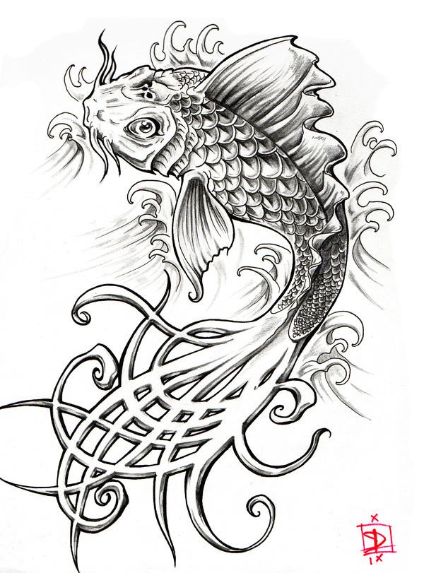 Tatouage Japonais Carpe